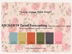 Autumn Winter 2018/2019 trend forecasting is A TREND/COLOR Guide that offer seasonal inspiration & key color direction for Women/Men's Fashon, Sport & Intimate Apparel #FashionTrendsForecasting