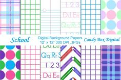 School Digital Papers by Candy Box Digital on @creativemarket