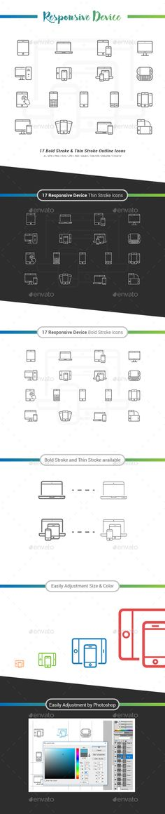 Responsive Device Outline Icons