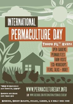 International Permaculture Day is coming up! Garden Buildings, Happenings, Go Green, Sustainable Living, Permaculture, Forests, Vegetable Garden, Sustainability, Faith