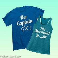 Going on vacation together soon? Maybe going to the beach? This classic tee is perfect for you to wear to show everyone that you are your woman's captain! You help each other get where you need to go in life. Check out the matching shirts where she can claim herself as your mermaid!