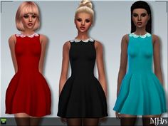 Sims 3 Addictions: Taylor Dress by Margies Sims • Sims 4 Downloads