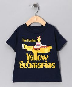 Take a look at this Navy 'Beatles Yellow Submarine' Tee - Toddler & Kids by With the Band: Kids' Apparel on #zulily today! #fall ***NEED TO BUY THIS FOR MY BABE****