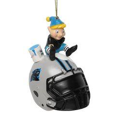 Carolina Panthers Team Painting Elf Ornament