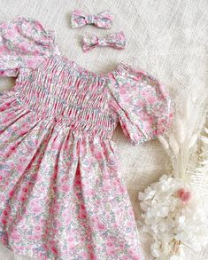 """Arabella And Rose®️Est 2012's Instagram post: """"🌸💗Puff Sleeve Perfection in our NEW Ella Rose Dress . Sizes 1-10 with a beautiful romper also available to match....."""" Baby Girl Accessories, Rose Dress, Little Girls, Rompers, Instagram Posts, Sleeves, Beautiful, Dresses, Pink Sundress"""