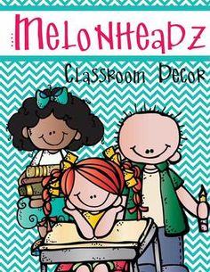MELONHEADZ - Classroom Decor, binder covers, banners, post