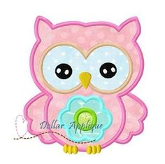 Flower Owl 3 Applique - 3 Sizes! | What's New | Machine Embroidery Designs | SWAKembroidery.com Dollar Applique