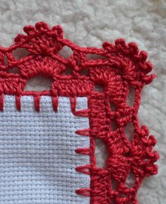 Crochet Gloves Pattern, Crochet Edging Patterns, Crochet Lace Edging, Filet Crochet, Crochet Designs, Easy Crochet, Crochet Boarders, Sewing Collars, Bead Embroidery Tutorial