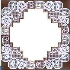 The Roses in Filet Crochet Are Crochet Dollies, Crochet Doily Patterns, Crochet Borders, Tatting Patterns, Crochet Motif, Crochet Designs, Crochet Lace, Crochet Stitches, Filet Crochet Charts