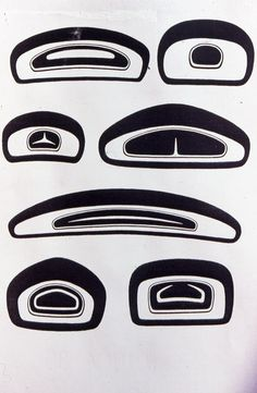 "The single most characteristic shape in all of Northwest Coast style art is the ovoid and these are some of it's variations, there are many more. They all follow the same rules effectively described by Bill Holm in his landmark book ""Northwest Coast Indian Art: an analysis of form"", 1965.  via Barry Herem FB"