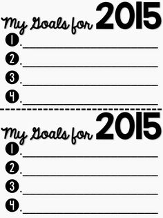 Students write down their goals for the New Year!