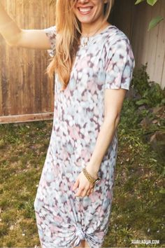 DIY T-Shirt Maxi Dress