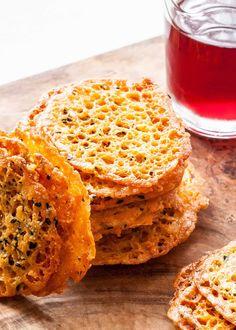 Golden Cheddar Cheese Crisps Recipe   SimplyRecipes.com