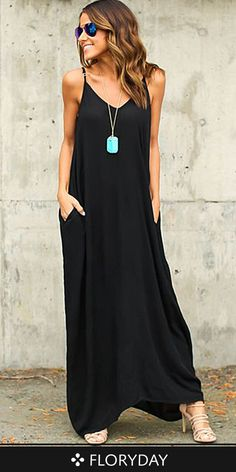 Nothing matters most than the smile on your face! Wear this cotton solid sleeveless maxi dress and lighten up the world around you!