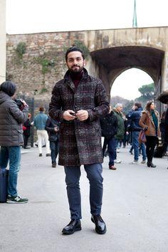 Urban Street Style, Pitti Uomo, Florence, Men's Fall Winter Fashion.