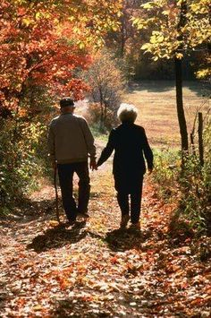 forever love and the beauty of autumn and take one the turning around and look