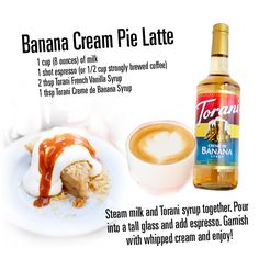 Banana Cream Pie Latte