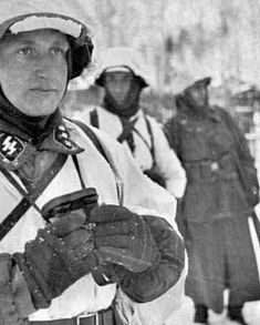 Waffen-SS troopers stand their ground, bearing the harsh frigid cold of the Russian Motherland. Nobody, not even Hitler himself could have imagined how truly inhospitable the Winter would be when launching Operation Barbarossa in the Summer of 1941. The Soviet Union would have been dismantled far quicker if Mother Nature hadn't inflicted such a wrath.