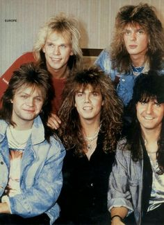 90s Artists, 80s Heavy Metal, Best Classic Rock, Big Hair Bands, Europe Band, Joey Tempest, Glam Metal, Pop Rock Bands, Band Photos