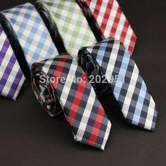 Novo 2014 acessórios de moda 5 cores xadrez Jacquard tecido 5 cm fino laço ocasional gravata para homens, Freeshipping Slim Tie, Pepper, Plaid, Classic, Vintage, Accessories, Fashion, Casual Tie, Tie Dye Outfits