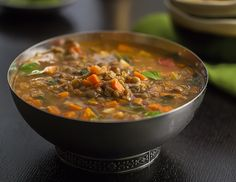 Green Lentil Soup with Spinach | From Garden to Soup Bowl #KeepWarm