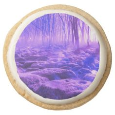 Clearing in the Forest Round Shortbread Cookie