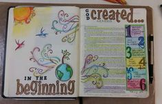 Image result for bible journaling genesis