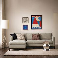 """Blake Down-Filled 2-Piece Chaise Sectional 
