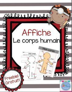 Freebie! Le blogue de Mme Émilie vous partage cette affiche et activité sur le corps humain! C'est gratuit! Plus