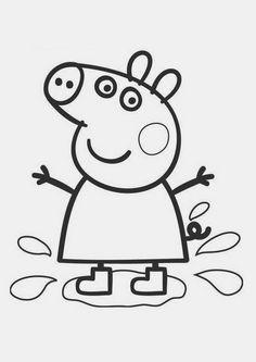 ARTE COM QUIANE - Paps,Moldes,E.V.A,Feltro,Costuras,Fofuchas 3D: Peppa Pig 7 desenhos para Colorir
