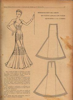 vintage fashion patterns- MOLDE - costurar com amigas - Picasa Albums Web