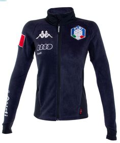 Kappa Women Italian FISI Fleece Jacket - Blue Nights