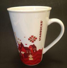 2013 Starbucks Christmas HolidayCoffee Cup Mug Winter Village Tall 22 ounces