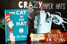 Crazy Dr. Seuss Paper Hats #drseuss #hats #kidscraft #books