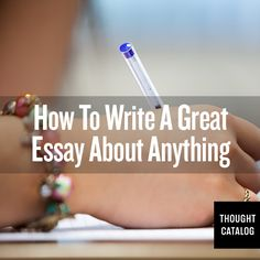 Tips for writing a great essay - great resource for college students!