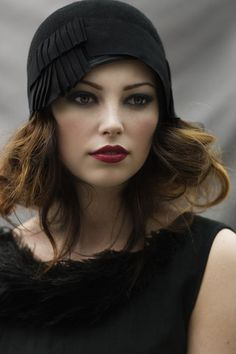 Pleated Cloche hat #vintage