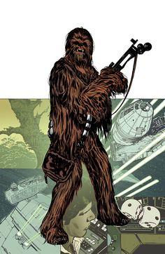 Chewbacca by Adam Hughes