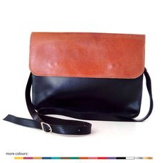ON SALE  Classic minimal Messenger leather bag by LoveFromCyprus