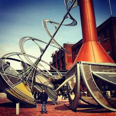 Historic Distillery District in Toronto, ON galleries, cafes etc