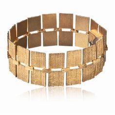 QUADRO  Design Björn Weckström / Gold Bracelet / Lapponia Jewelry / Handmade in Helsinki