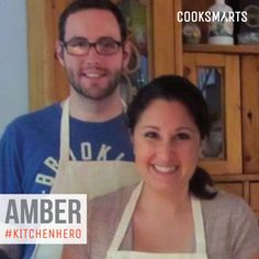 """Amber: """"I really enjoy cooking now - It's fun for me and doesn't feel like a chore like it used to. I never knew I had it in me to make so many different things.""""   Hero in the Kitchen via @CookSmarts"""