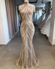 Webbed beading Crystal and mesh fitted Girls Dresses Uk, Maxi Dresses Uk, Maxi Dress With Sleeves, The Dress, Fashion Dresses, Wedding Dresses, Stunning Dresses, Beautiful Gowns, Elegant Dresses