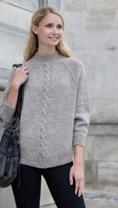 Familie Journal - strikkeopskrifter til hende Knitting Patterns Free, Free Knitting, Free Crochet, Knit Crochet, Knit Jacket, Knitting For Beginners, Pullover, Pulls, Knitwear
