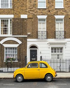 A Lady in London on Instagram: This is a car in Chelsea, London Best Places In London, Chelsea London, Chelsea Flower Show, Fiat 500, London Travel, Trip Planning, The Good Place, Lady, House