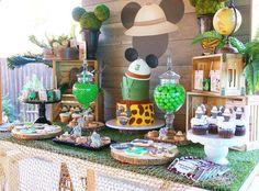 Mickey Safari Birthday Party Ideas   Photo 1 of 12