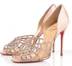 Wedding Shoes: Strappy Rhinestoned Christian Louboutin wedding shoes