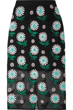 MARKUS LUPFER ROISIN EMBELLISHED SILK-ORGANZA PENCIL SKIRT £219.88 http://www.theoutnet.com/product/939010