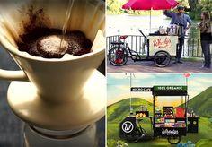 Cafeteria sobre rodas transforma grãos de café em fertilizante e purifica o ar da cidade