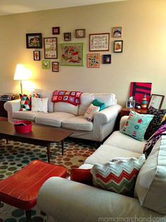 mama marchand's nest: mama's house tour: living room.
