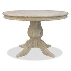South Cone California Round Pedestal Dining Table - Antique Grey - LAFRADN54MAPLE
